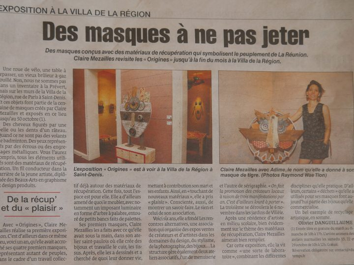 Article sur l'exposition Origines